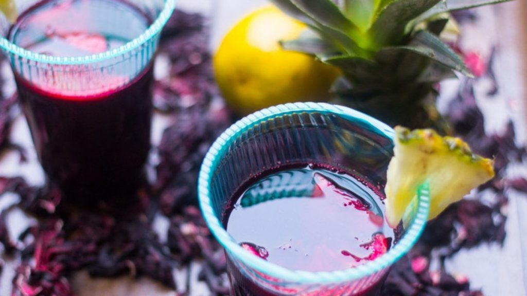 zobo drink with pineapple